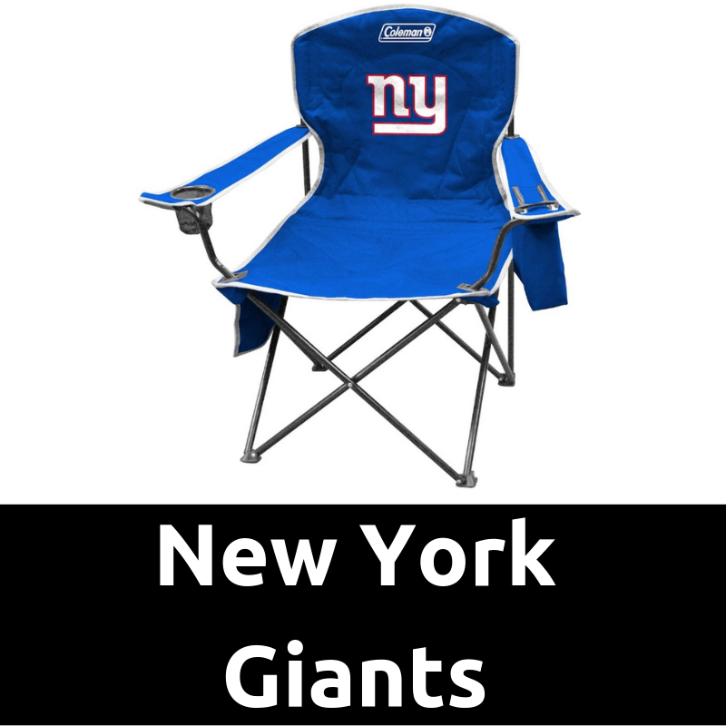 Surprising New York Giants Cooler Quad Chair Ultimate Tailgating Gear Ocoug Best Dining Table And Chair Ideas Images Ocougorg