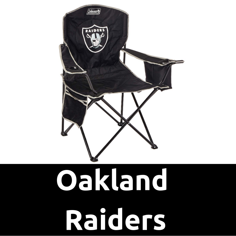 Oakland Raiders Cooler Quad Chair Ultimate Tailgating Gear